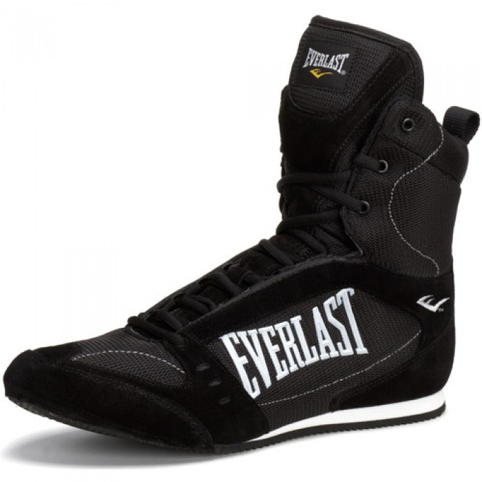 Everlast Hi Top Pro Competition Boxing Shoes Black